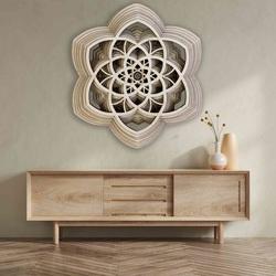 3D obraz Sentop Mandala pokoja prírodná až 90 x 100 cm