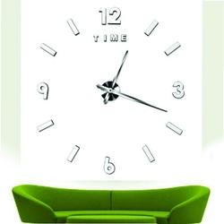 Stylesa - Moderné nástenné hodiny exclusive zrkadlové silver MRAZIK S038S
