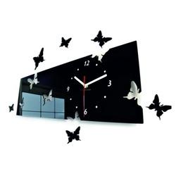SENTOP Nástenné hodiny motýle Rozmer 60 x 49 cm aj čierne