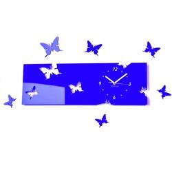 Plastové hodiny na stenu modré  Rozmer  60 x 49 cm EVITA