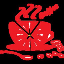 Farebné nástenné hodiny farba:červená ASTANA