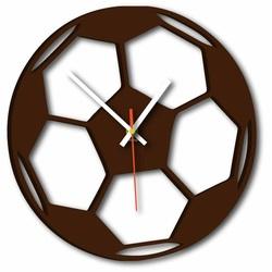 Stylesa - Nástenné hodiny futbalová lopta FIFA aj hnedé X0024