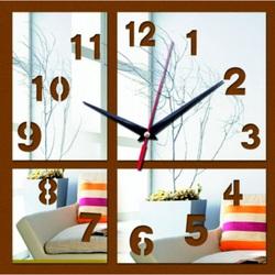 Desing nalepovacie hodiny na stenu  zrkadlové  HENRICH