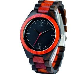 Yisuya - Náramkové hodinky na ruku z dreva DH013-2 Dve čísla
