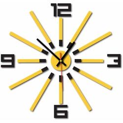 Nástenné hodiny do kuchyne farba:čierna, žltá STYLESA X0032
