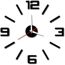 Stylesa Nalepovacie moderné nástenné hodiny do kuchyne BUSTER X0033 i čierne