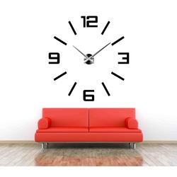 Stylesa Veľké 3D nástenné hodiny farebné KELSEY X37 i červené