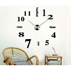 SENTOP Nástenné hodiny do obývačky  MARTIN 2D PLEXI čierne