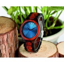 YISUYA Drevené náramkové hodinky DH015 MARED modré