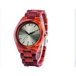 Yisuya Náramkové hodinky na ruku z drerva DH015 hnedé