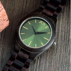 Yisuya Náramkové hodinky z dreva na ruku DH015 zelené