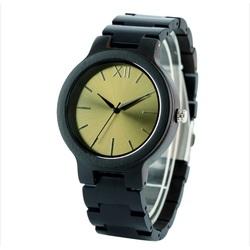 YISUYA  Drevené hodinky na ruku DH015 FIGAROO zlaté
