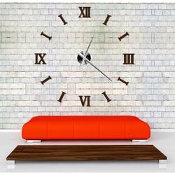 STYLESA nástenné hodiny na stenu farebné DIY CLOCK RIM 3D S037 hnedé