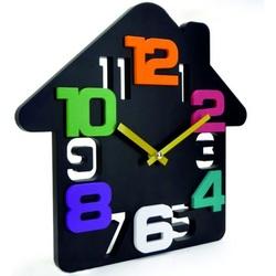 Nástenné hodiny domček( dom hodiny na stenu ) DADA 34x34 cm