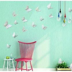 Samolepka na stenu -strieborný motýľ, 1 sada - 12ks