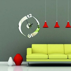 Sentop - Moderné nalepovacie nástenné hodiny  JULKA IA204S  zrkadlo