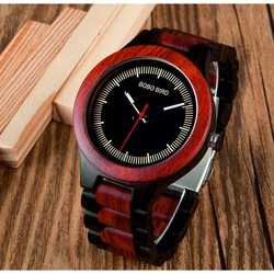 BOBO BIRD Náramkové hodinky na ruku z dreva pánske DH016 COMP