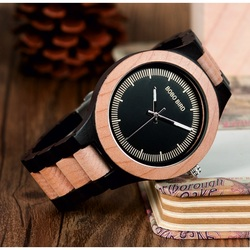 BOBO BIRD Náramkové hodinky na ruku z dreva pánske DH016 OFXS