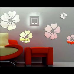 Samolepka kvety Veľkosť: 1 sada sa skladá z 25 lístkov 5ks kvetov fi: 24 cm, 18 cm, 14 cm, 12 cm, 10 cm