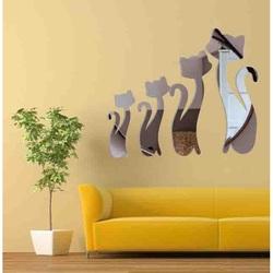 Moderná samolepka na stenu - Čierne mačky