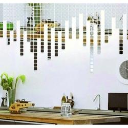 Zrkadlová samolepka na stenu - Fantázia, 1 sada obsahuje 100 kusov DAZD