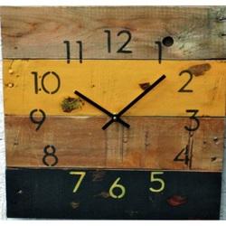 Stylesa Drevené hodiny bohatstva JÚLIAna chatu D40144 i žlté