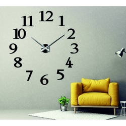 Stylesa - Elegantné nástenné hodiny TOSCANNA PMMA 2D i čierne X0066