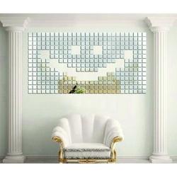 Zrkadlová samolepka na stenu - Fantázia, 1 sada obsahuje 100 kusov USMEV