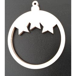 Drevené ozdoby na vianočný stromček-Hviezdičky, rozmer: 68x80 mm