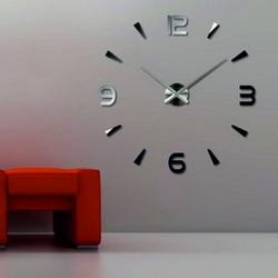 Stylesa Moderné nátenné hodiny  HOPART S030 čierne ruky silver