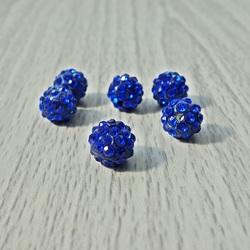 Shamballa korálka - kráľovská modrá FI 10 mm