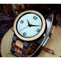 Fold Clasp Náramkové hodinky na ruku z dreva DH017 GEORGIA hnedé