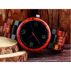 READER Náramkové hodinky na ruku z dreva DH017 GEORGIA červené