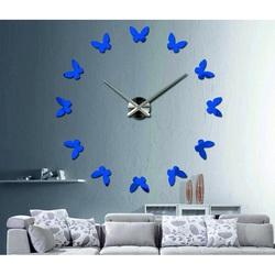 Stylesa - Moderné hodiny na stenu Motýle LAURA S001 aj modré