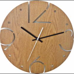 STYLESA Nástenné hodiny vyrobené z HDF  BARDOT HDFK005 i čierne