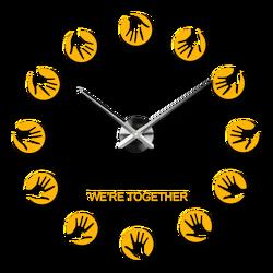 Samolepiace moderné nástenné hodiny  STAR