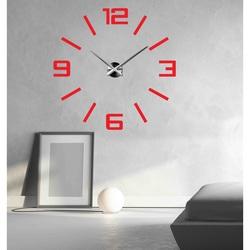 SENTOP hodiny na stenu DEKOR VISTON 2D X0037 i červené
