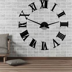 Nalepovacie nástenne hodiny rímske 2D plexi ROMANA