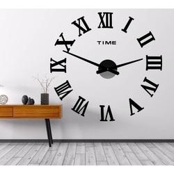Stylesa Nástenné hodiny nalepovacie rímske čísla 2D OLIVA P031 i čierne