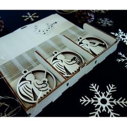 Vintage drevené vianočné ozdoby,sada obsahuje 18 kusov CHRISMAS STYLESA PR0118