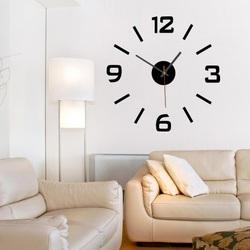 Styles Nástěnné hodiny nalepovací XS SANDERO X0089 černé