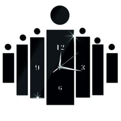 STYLESA nástenné hodiny nalepovacie DIY HOJOKER IA117B i čierne