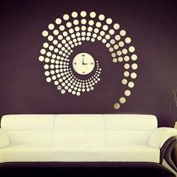 Hodiny na stenu nalepovacie bodky zrkadlové alebo farbené PlexiPMMA  PLLA
