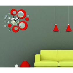 Nalepovacie nástenné hodiny ( zrkadlové hodiny na stenu ) LOLITA