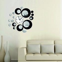 Farebné nástenné hodiny  zrkadlové hodiny na stenu HOFFER 45 X 45 CM