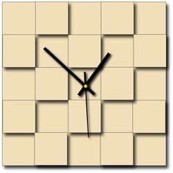 Stylesa - Moderné nástenné hodiny štvorce  DEKOFER i zelené X0047