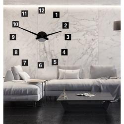 Nástenné hodiny štvorcové hodiny na stenu z plastu  STYLESA 019S
