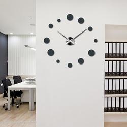 Sentop - Veľké nástenné hodiny bodka na stenu DEKORAJ S044S i čierne