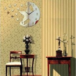 Moderné nástenné hodiny ( zrkadlové hodiny na stenu nebo) TEMPLATES, 30x45cm