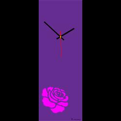Nástenné hodiny ruža ružová ( moderné hodiny na stenu ) farba:ruža ružová Stylesa X0012